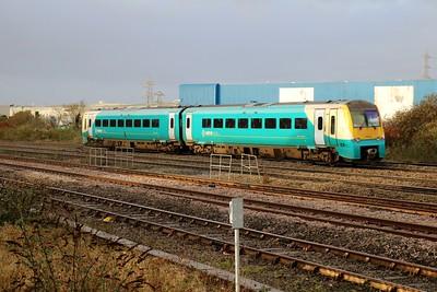 175010 passes Cardiff Splott Jct   29/12/17