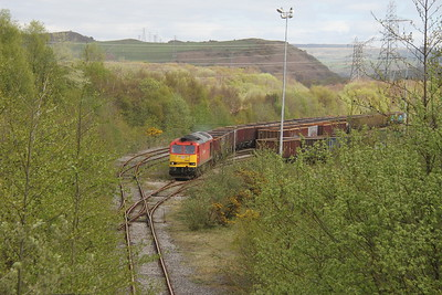60020 Swansea Burrows Sidings 12/04/17 having arrived with 6O10 from Onllwyn Washery