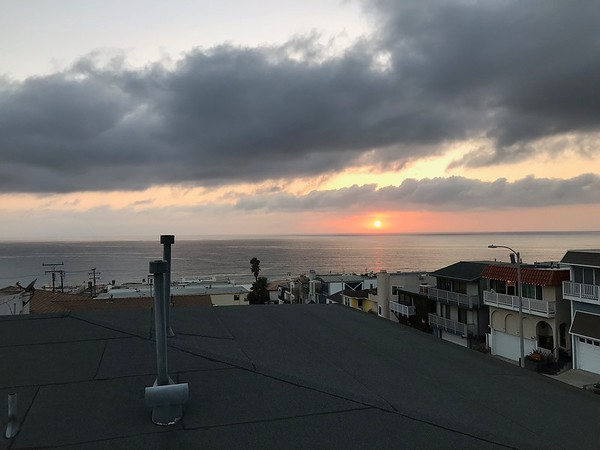 Manhattan Beach Sunset from the Plaza Bank Patio