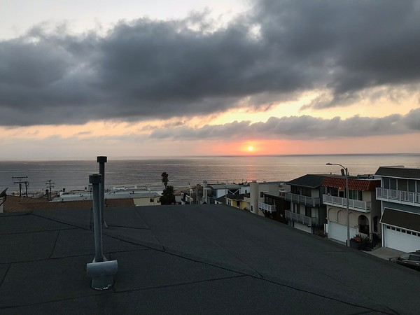 Manhattan Beach Sunset from the Plaza Bank Patio