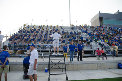 Band at first home game