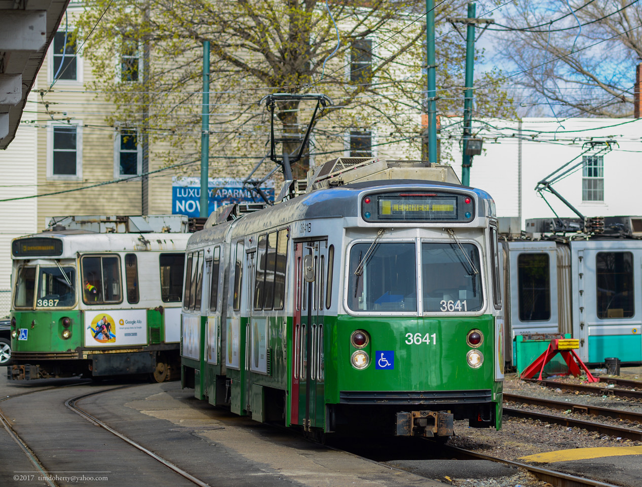 The current end of the Green Line in Lechmere