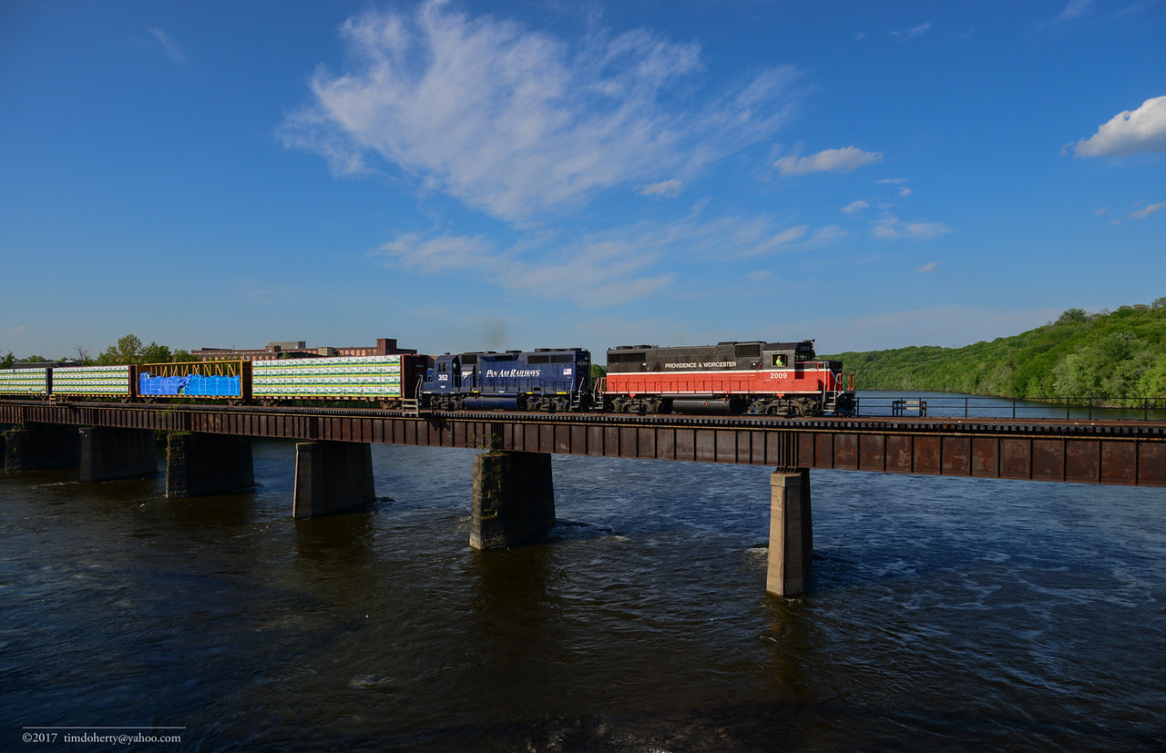 EDPL crossing the Connecticut River in Holyoke on May 18, 2017.