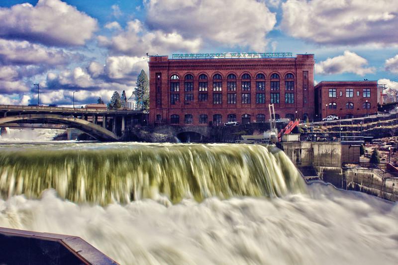 Roaring Spokane River...