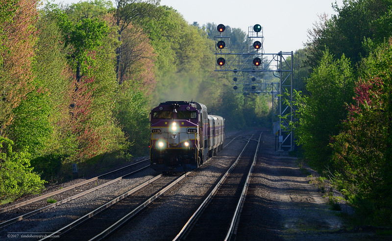 MBTA train 401 at CPF Derby in Leominster on the Fitchburg Line.