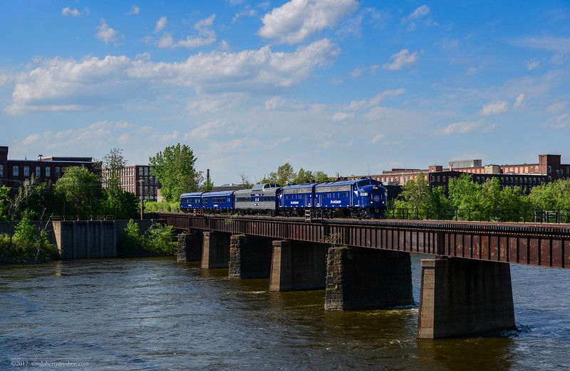 Pan Am's OCS crossing the Connecticut River in Holyoke on May 18, 2017.