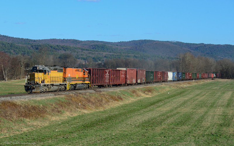 Northbound NECR at Vernon, VT.