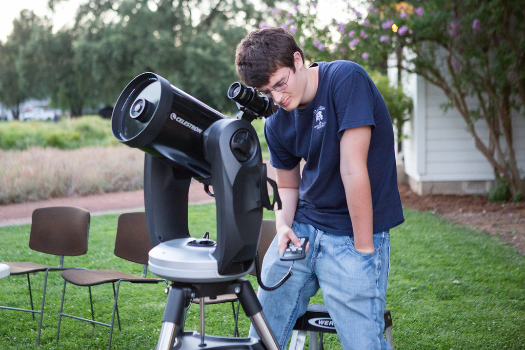 . Ukiah High School Junior Jalen Travers, 16, has been assisting Bradley with Observatory operations. Chris Pugh-Ukiah Daily Journal.
