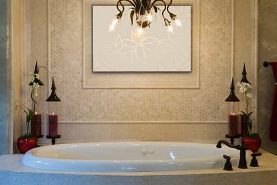 Relaxing Jacuzzi Tub with Red Candles