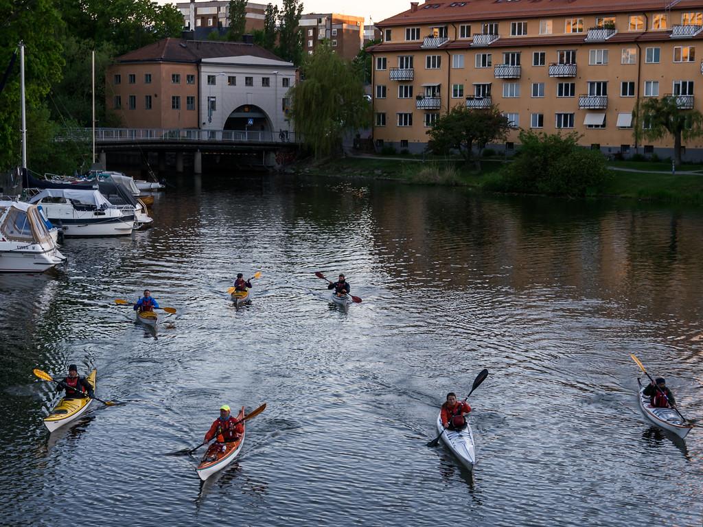 Andra gänget in i Pålsundskanalen