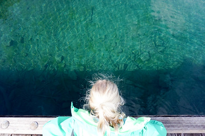 Lake Crescent is crystal clear