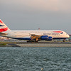 British Airways flight 212 with an A380 departs from Logan Airport in Boston.