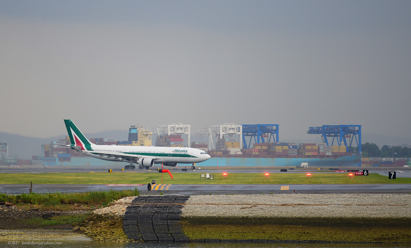 A little more than a month into bankruptcy an Alitalia A330-200 arrives in Boston. The airlines recurrent financial issues askes the question if this view will remain in the future.