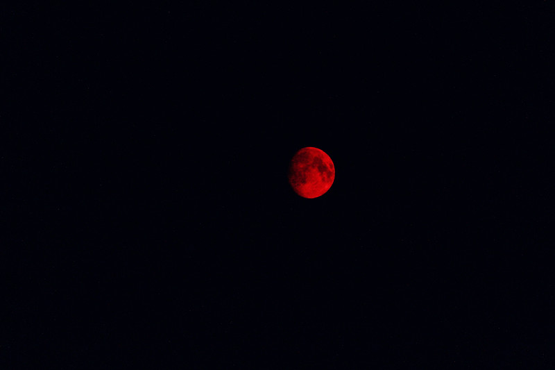 Smokey Red Moon