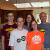 Chris and Patty Boyea family visit and having lunch in Columbus Ohio.