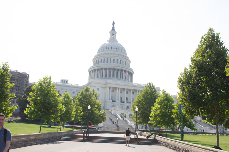The United States Capitol, often called the Capitol Building, is the home of the United States Congress, and the seat of the legislative branch of the U.S. federal government. It sits atop Capitol Hill at the eastern end of the National Mall in Washington, D.C.