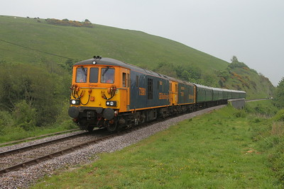 73961 Corfe Castle 06/05/17 2N26 Swanage to Norden with 73119