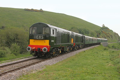 20188 Corfe Castle 06/05/17 1N08 Swanage to Norden with 20059