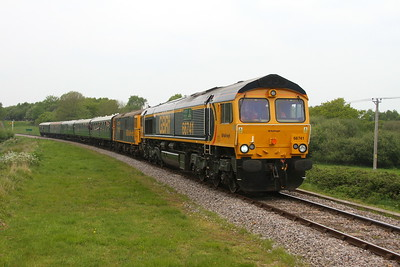 66741 Corfe Castle 06/05/17 1N05 Norden to Swanage with 73119