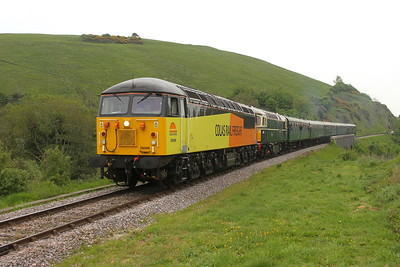 56096 Corfe Castle 06/05/17 2N14 Swanage to Norden with 33012