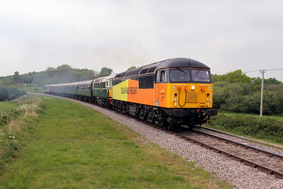 56096 Corfe Castle 06/05/17 2N15 Norden to Swanage with 33012