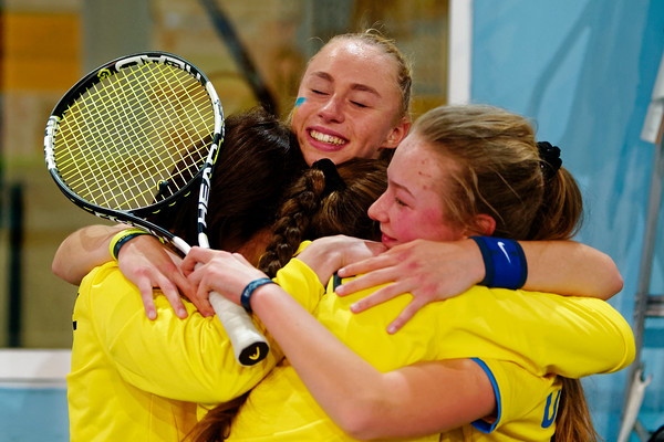 01.03a Happy after winning final - Ukraine - Tennis Europe Winter Cups by HEAD final girls 14 years and under 2017
