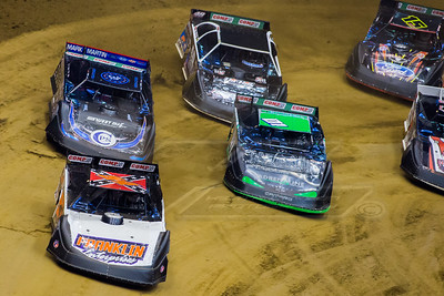 David Breazeale (54), Casey Montague (01), Scott Bloomquist (0) and Jonathan Davenport (49)
