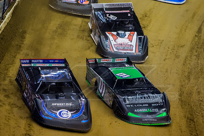 Scott Bloomquist (0), Casey Montague (01) and Daryn Klein (10K)