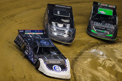 Scott Bloomquist (0), Timothy Culp (C8) and Casey Montague (01)