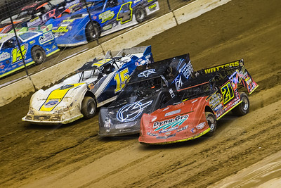 Billy Moyer, Jr. (21JR), Freddie Carpenter (4) and Chris Fetter (15F)