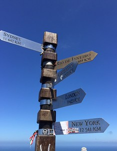 Distance marker at the Cape of Good Hope - Kristin Appelget