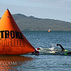 Competitors near the end of the swim leg. 2017 New Zealand Swimrun Championships. Mission Bay, Auckland, New Zealand. Wednesday 22nd February 2017.