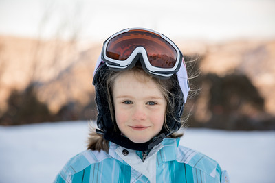 """Scarlett's First Trip """"Up The Mountain"""" - Gunbarrel Chairlift Skiing Back to the Challet"""