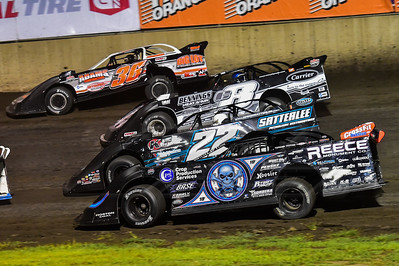 Scott Bloomquist (0), Gregg Satterlee (22), Timothy Culp (C8) and Logan Martin (36)