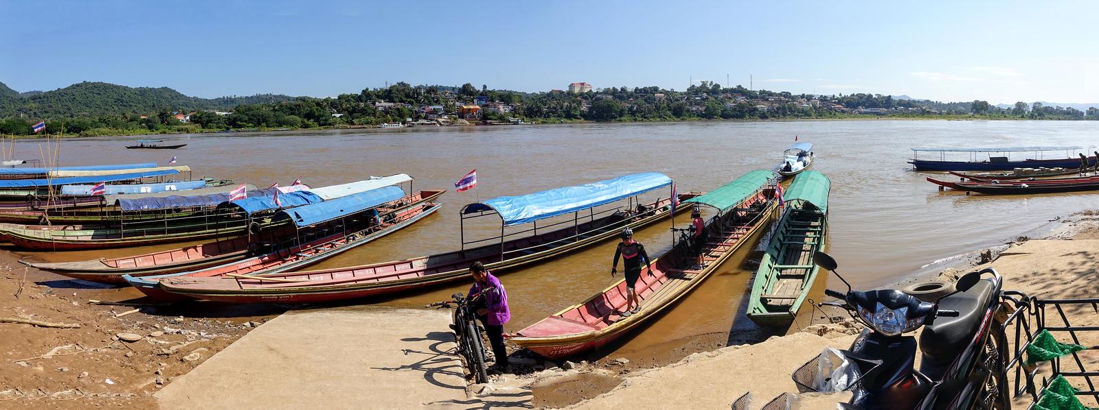 Chiang Khong Thai/Laos Port & View of Huay Xai, Laos