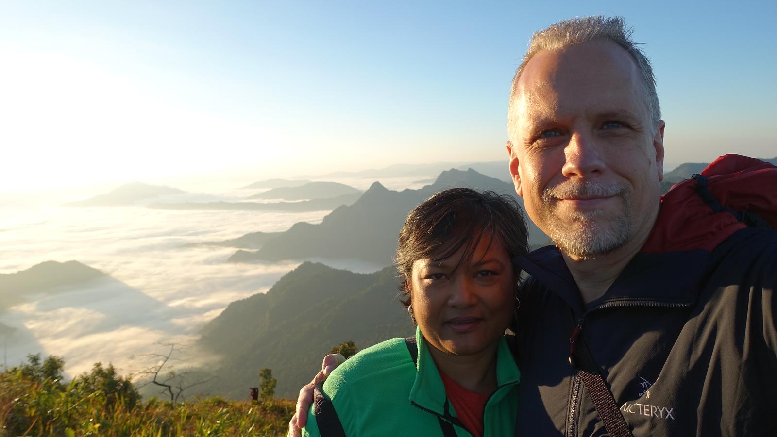Sunrise on Phu Chi Fa Mountain
