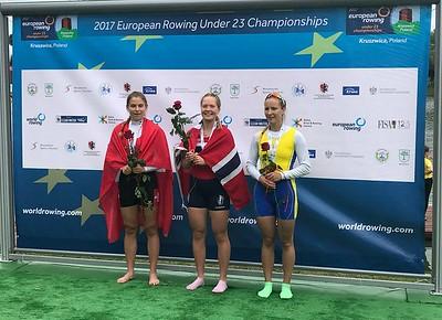 Maia Emilie Lund fra Bergens - Europamester i U23 lettvekt singelsculler