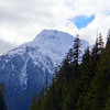 Snow topped mountain along the Pacific Rim Highway