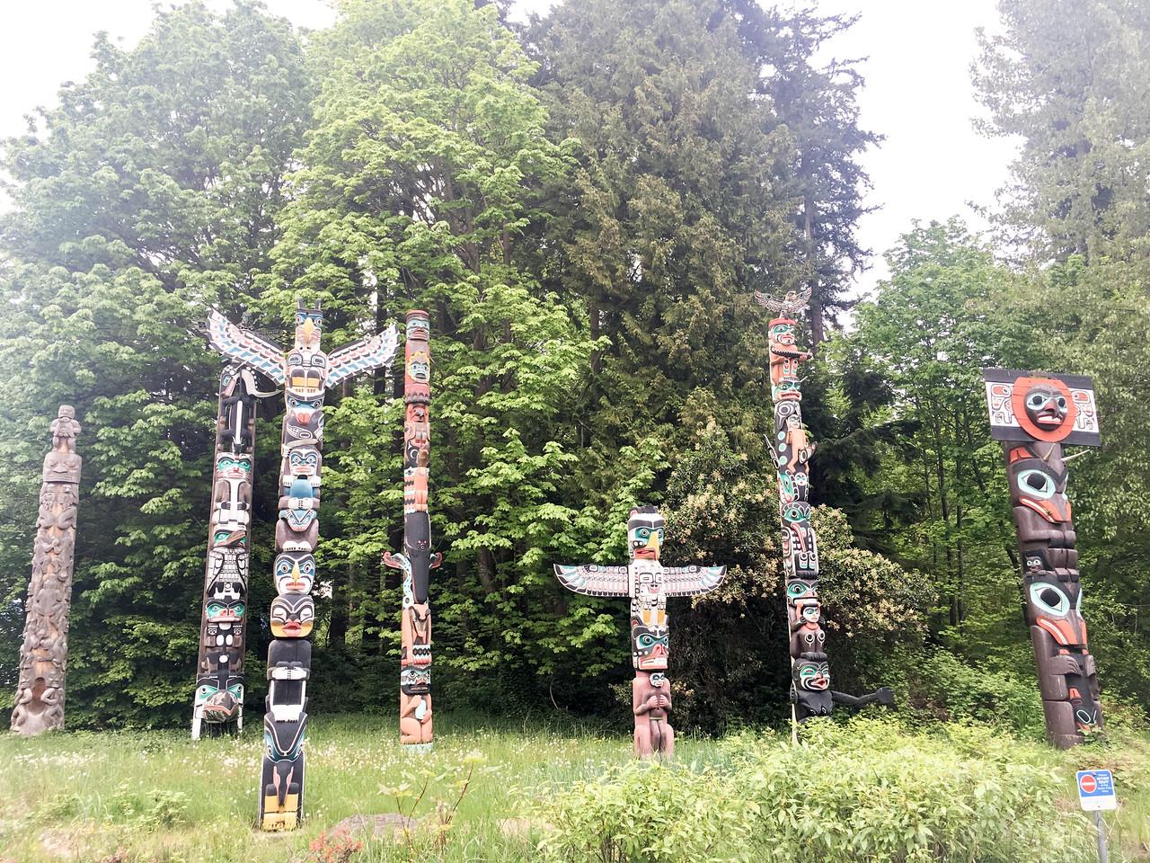 Totem Park inside of Stanley Park