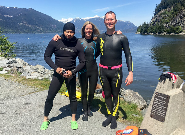 Met up with a Vancouver based guy, JB, that has swum in Seattle with us a few times.