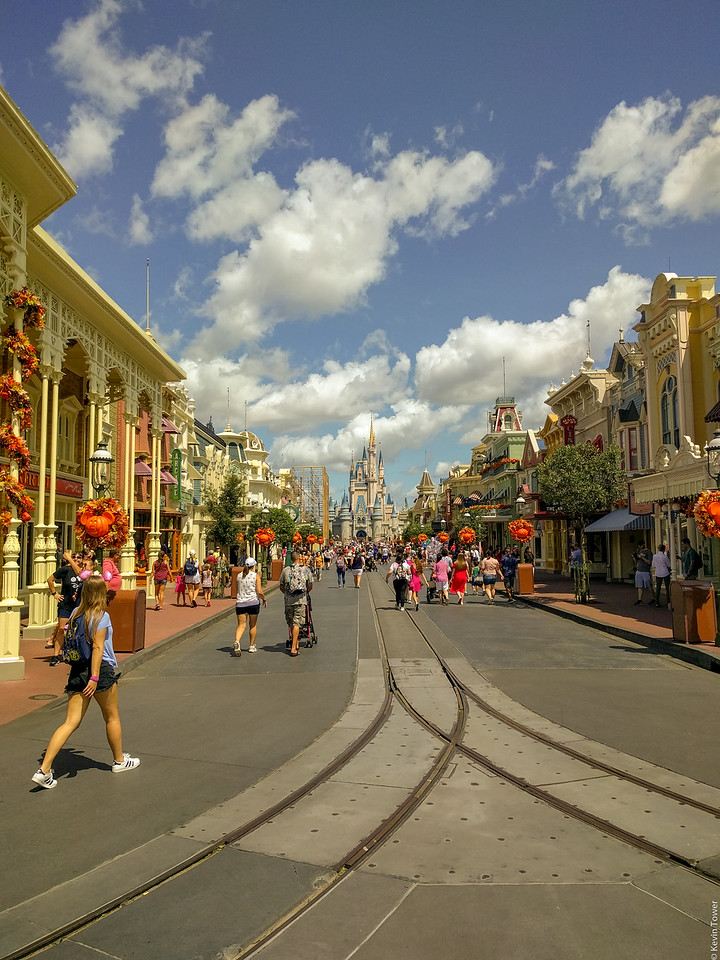 Magic Kingdom midday crowds