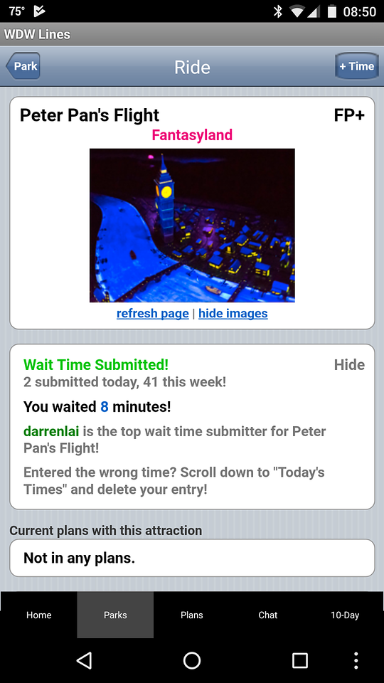 Peter Pan crowd meter