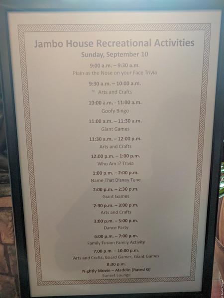 DAK Lodge Activities Day 1