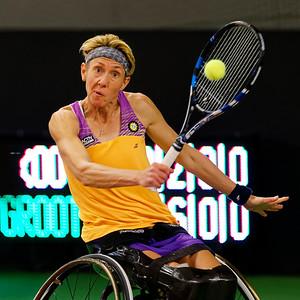 01.06b Sabine Ellerbrock - Wheelchair Doubles Masters 2017