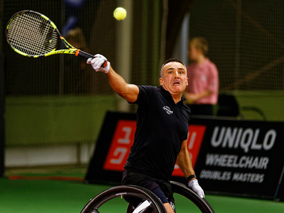01.08a Stephane Houdet - Wheelchair Doubles Masters 2017