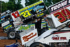 Mitch Smith Memorial - Pennsylvania Sprint Car Speedweek - Williams Grove Speedway - 39 Cory Haas, 27 Greg Hodnett, 12W Troy Fraker, 21 Brian Montieth