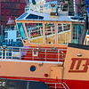 The Tug Justice in the Reserved Channel in Boston Harbor.