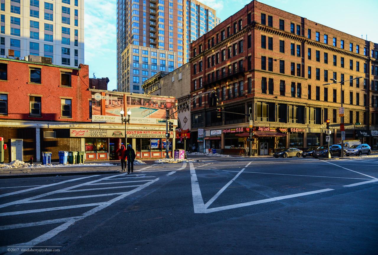 Washington and Kneeland Street in Chinatown.