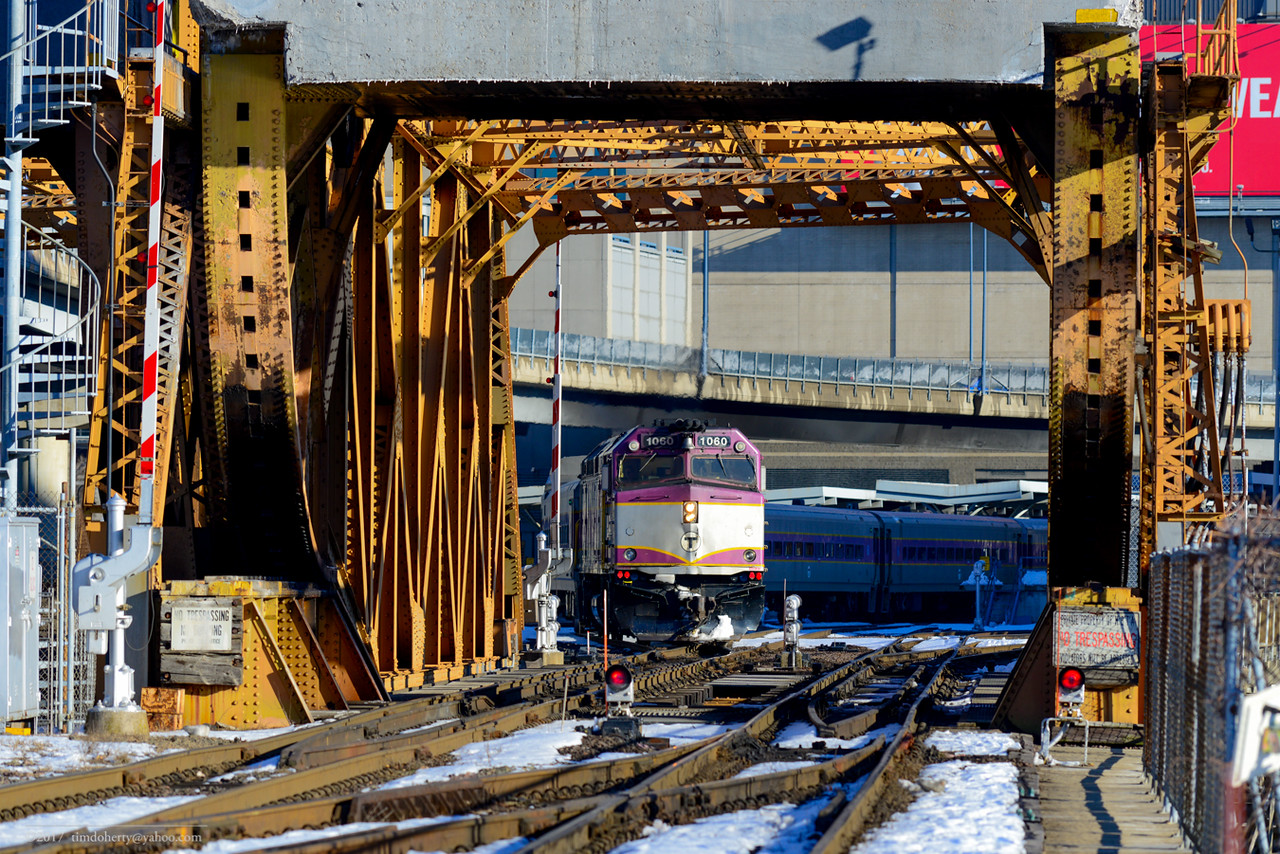 MBTA Lowell Line train 331 departs from North Station.