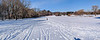 Cross-country skiing at Fresh Pond golf course